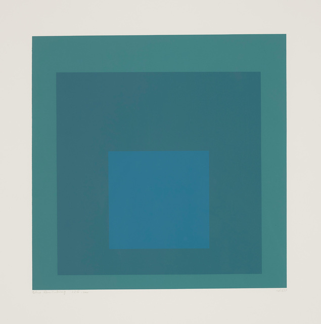Josef Albers, 'Blue Reminding', 1966, Phillips