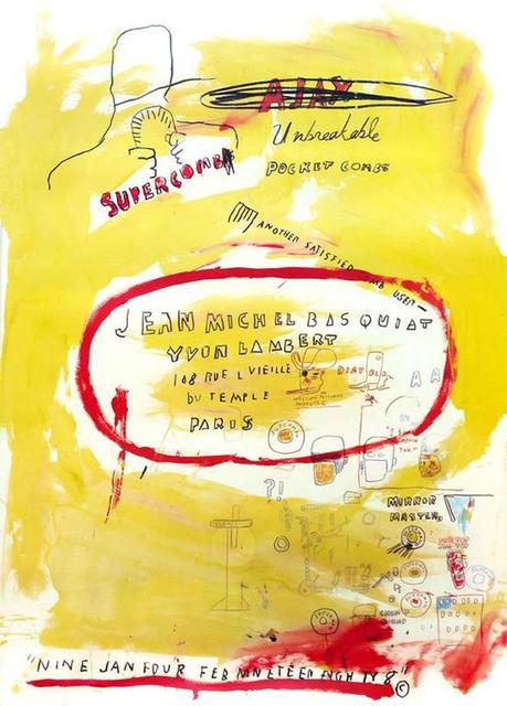 Jean-Michel Basquiat, 'Supercomb', 1988, EHC Fine Art Gallery Auction