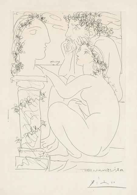 Pablo Picasso, 'Sculpteur avec son modèle et sa sculpture (Sculptor with his Model and Sculpture), plate 45 from La Suite Vollard', 1933, Phillips