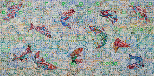 , 'Tlingit Dancers,' 2018, Linda Hodges Gallery