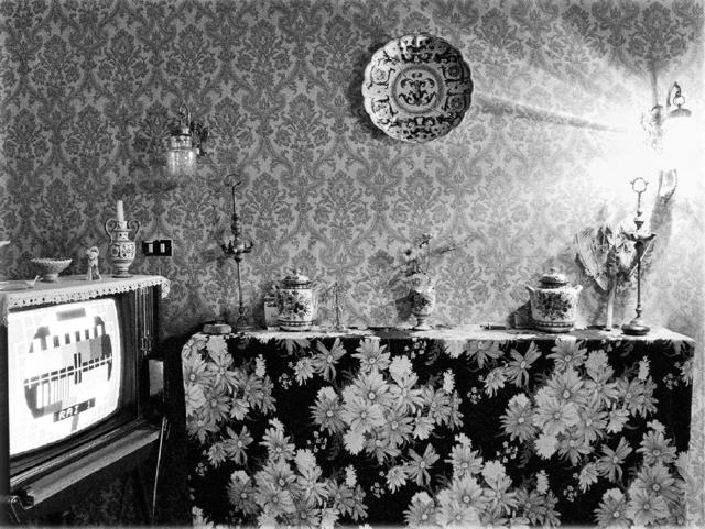 """, 'Interno con TV from serie """" Interni mossi, Barbarano Romano, 1978-79,' 1996, MLB Home Gallery"""