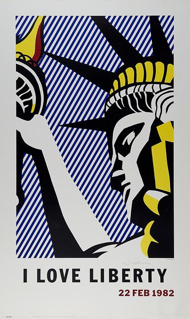 Roy Lichtenstein, 'I Love Liberty', 1982, Rago