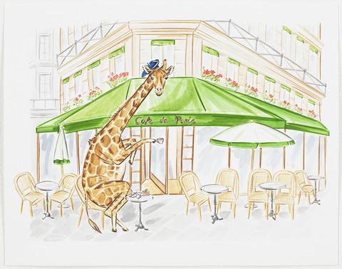 , 'Giraffe's Paris Tea Time ,' , ArtStar