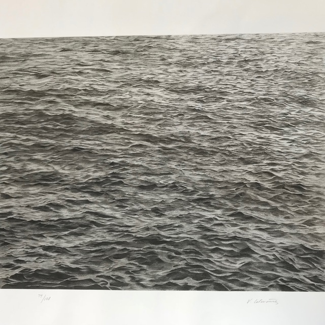 Vija Celmins, 'Ocean with Cross #1', 2005, Print, Screenprint on Rives Textured Rag, inde/jacobs