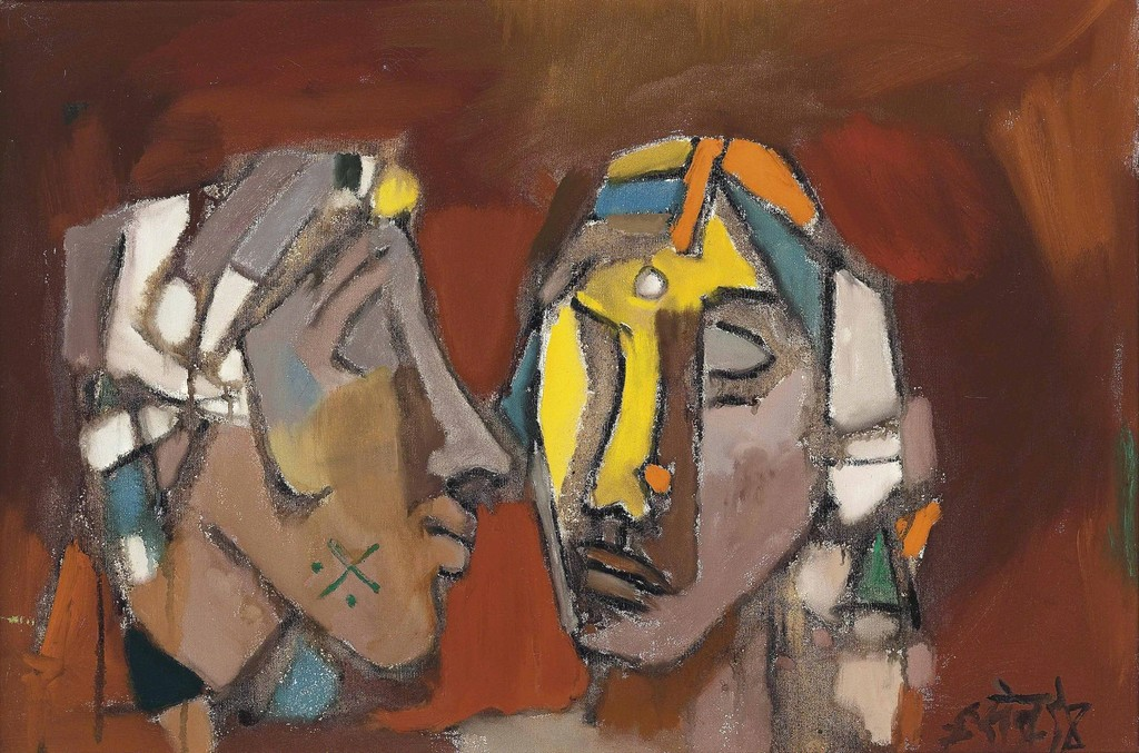 Maqbool Fida Husain, 'Untitled (Two Heads),' , Christie's South Asian + Chinese