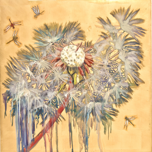 , 'Dandelion with Dragonflies,' 2016, Turner Carroll Gallery