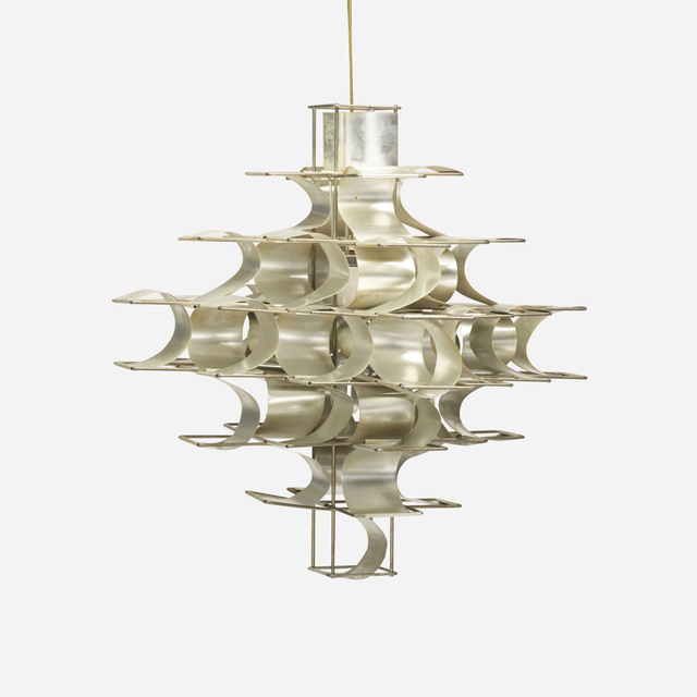 Max Sauze, 'chandelier', c. 1970, Design/Decorative Art, Aluminum, zinc-plated steel, Rago/Wright