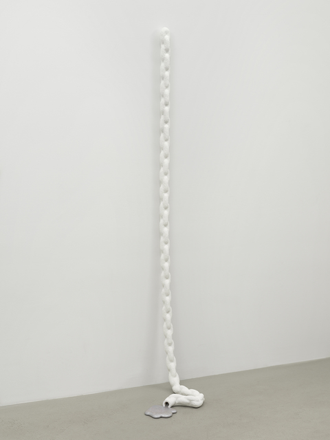 ", '3/8"" chain, draped, partially drained,' 2018, Simone Subal"