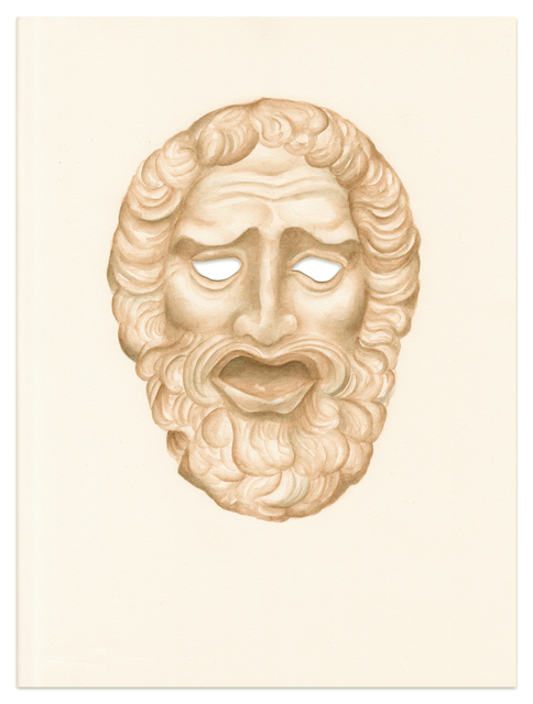 , 'Untitled (Ancient Greek male mask),' 2016, Meyer Riegger