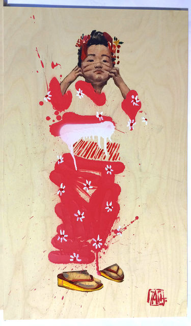 """Ernest Zacharevic, 'ERNEST ZACHAREVIC JAPANESE """"BLOSSOM GIRL"""" HAND SIGNED & HAND NUMBERED ', 2014, Arts Limited"""