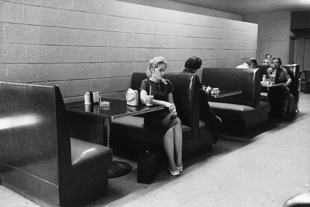, 'Woman in diner NY,' 1960, Galleria Valeria Bella