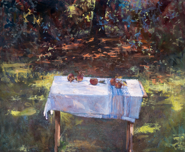 , 'Apples on French Linen,' 2018, Somerville Manning Gallery