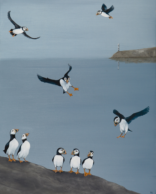 , 'A Circus of Puffins,' 2018, Jonathan Cooper