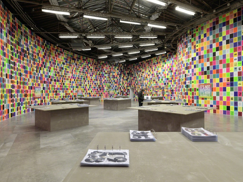 "Installation view of ""Ugo Rondinone: I Love John Giorno"" at Palais de Tokyo, Paris (2015-2016) Photo: André Morin"