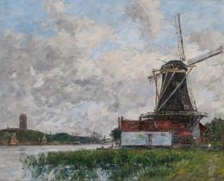 Dordrecht, Moulin sur Les Bords de La Meuse