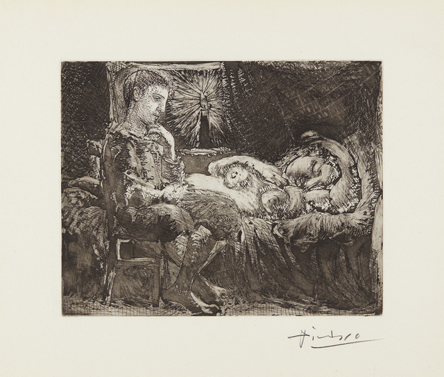 Pablo Picasso, 'Garçon et dormeuse à la chandelle (Boy and Sleeping Woman by Candlelight), plate 26 from La Suite Vollard', 1934, Phillips