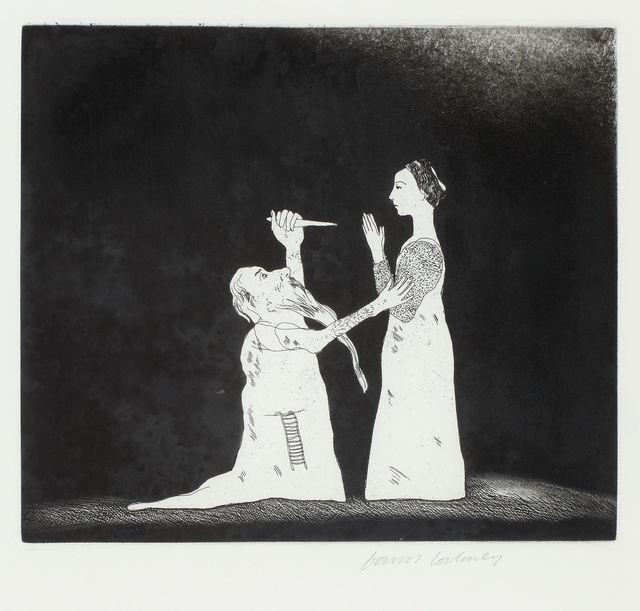 David Hockney, 'Old Rinkrank Threatens the Prince', 1969, TAI Modern