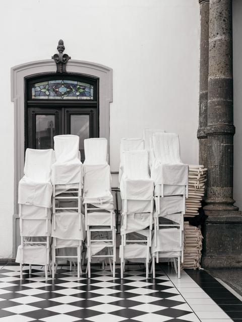 , 'Draped Chairs,' 2016, Shulamit Nazarian