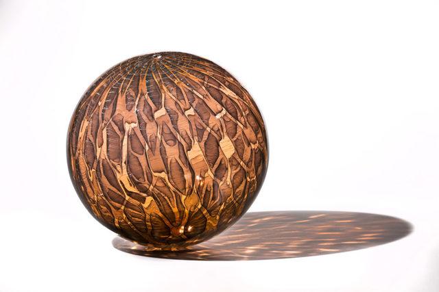 Nancy Callan, 'Apricot Shimmer Orb', 2018, Traver Gallery