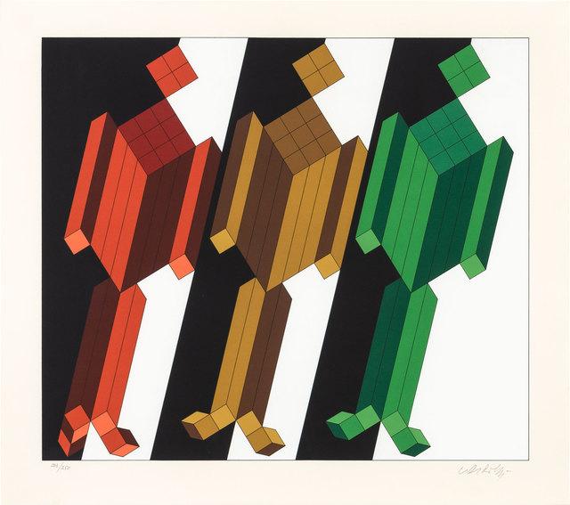 Victor Vasarely, '[Geometric Figures]', 1988, Doyle