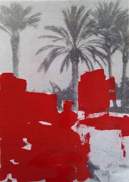, 'Cancellatura rosso scarlatto (le palme di Luca),' 2017, MATÈRIA