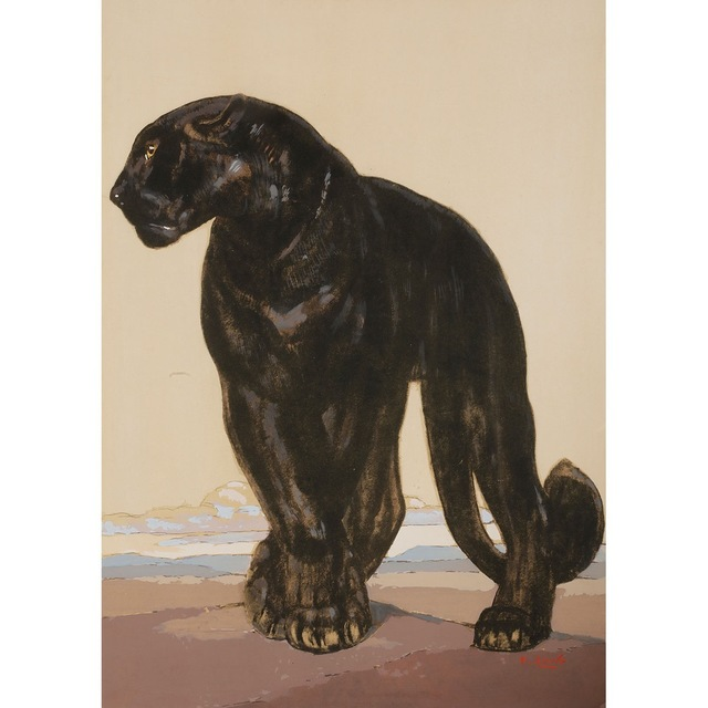 , 'Black Panther Standing,' 1927, Galerie Marcilhac