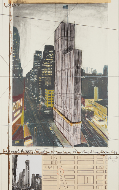 , 'Wrapped Building, Project for #1 Times Square, Allied Chemical Tower, New York,' 1991, Sims Reed Gallery