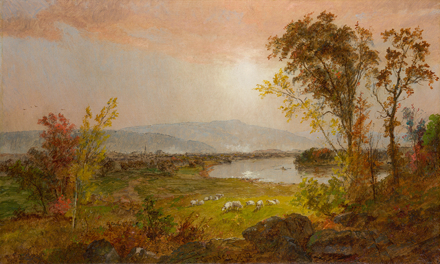 , 'A Bend in the River,' 1892, Questroyal Fine Art