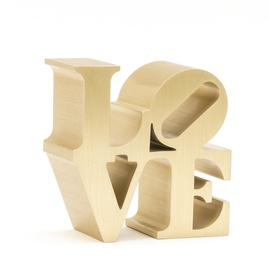 Love sculpture (Gold)