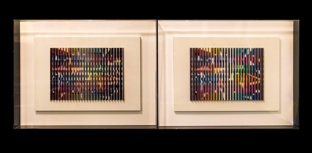 Yaacov Agam, Day and Night, Polymorph, 48 x 70 x 5 cm each