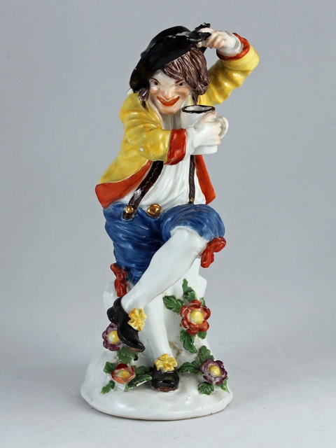 , 'Figure of a drunken peasant,' ca. 1740, Michele Beiny Inc.