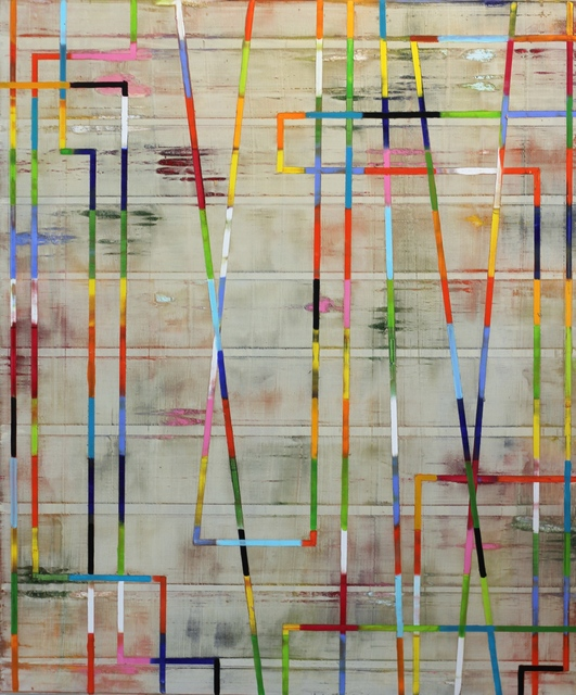 Petra Rös-Nickel, 'Stripes in Beige', 2017, Artspace Warehouse