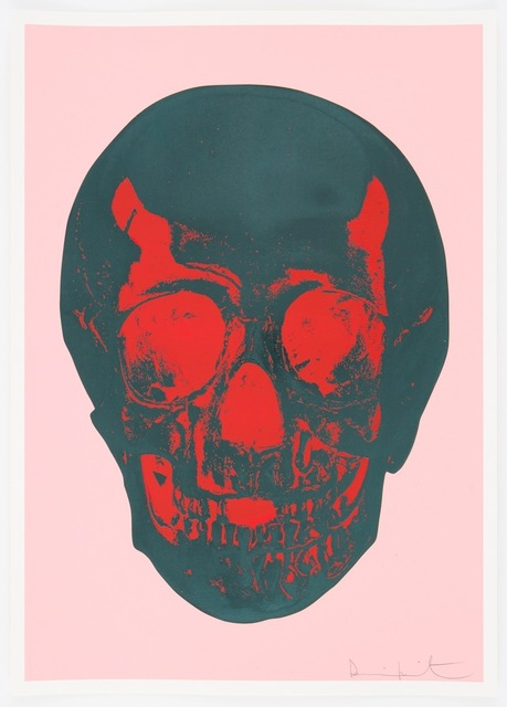 , 'Till Death Do Us Part - Candy Floss Pink Racing Green Pigment Red Pop Skull,' , Other Criteria