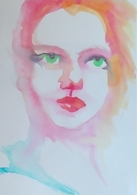 , 'Woman's Face in Pink,' 2017, MvVO ART