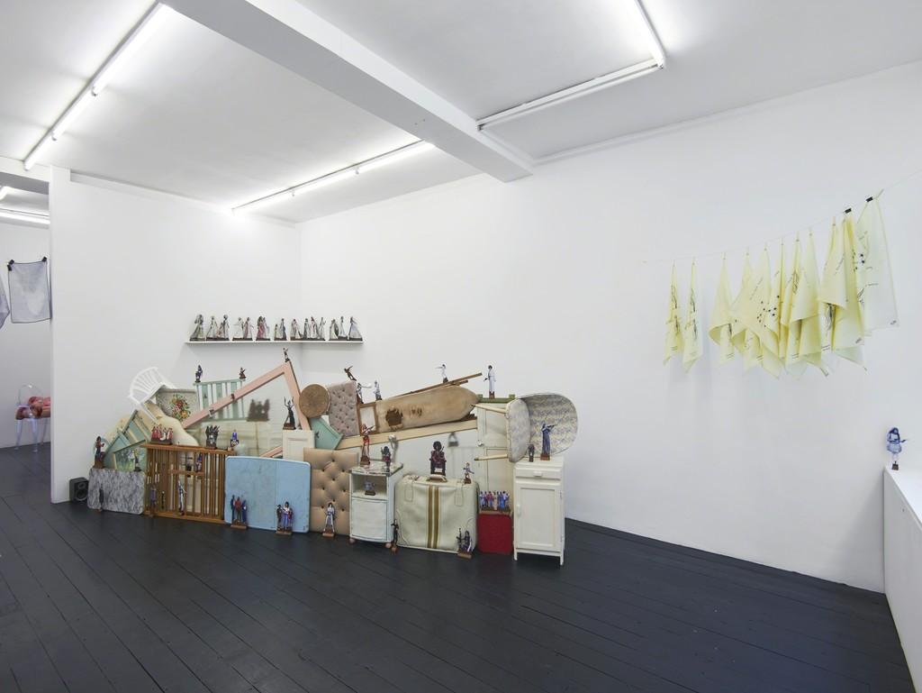 Installation view: Home Strike, 2018, l'étrangère