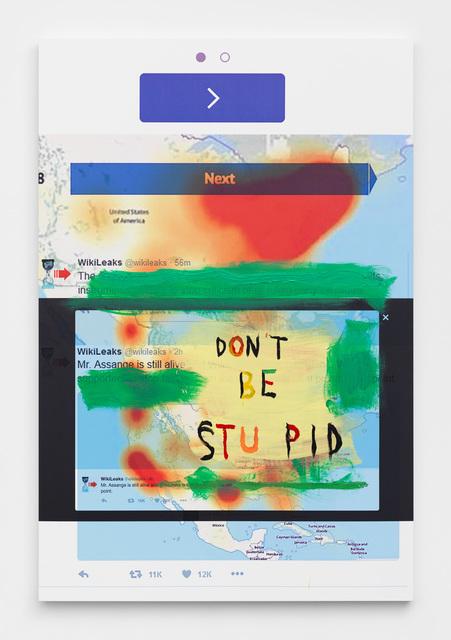 , 'Don't Be Stupid,' 2017, Maccarone