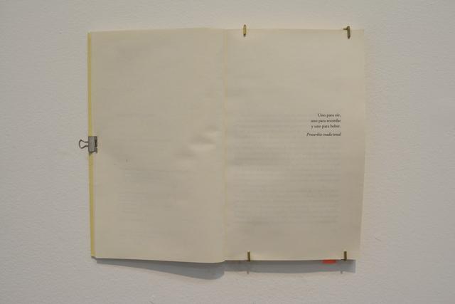 , 'proverbio tradicional,' 2018, SGR Galería