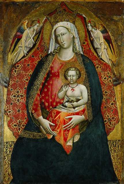 Giovanni di Marco, called Giovanni dal Ponte, 'Madonna and Child with Angels', 1410, Blanton Museum of Art