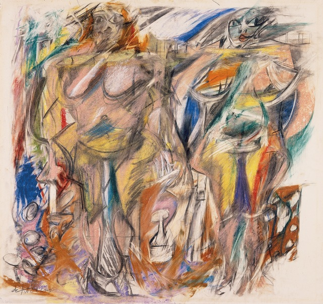 Willem de Kooning, 'Two Women with Still Life,' 1952, MOCA, Los Angeles