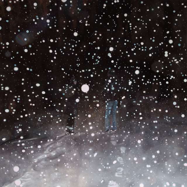 , 'Conversation on a Snowy Night,' 2016, Abbozzo Gallery