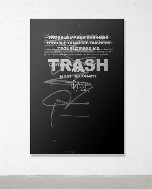 , 'Trash Painting #3,' 2017, Parra & Romero