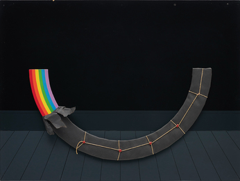 Patrick Hughes, 'Dark Rainbow Present,' 1978, Phillips: Evening and Day Editions