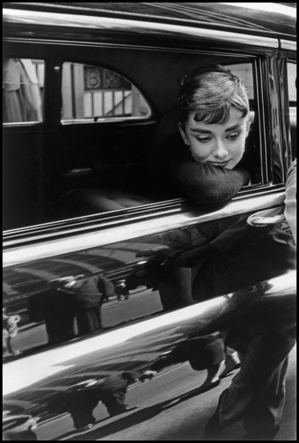 "Dennis Stock, 'Audrey Hepburn during the filming of ""Sabrina"". New York', 1954, Magnum Photos"