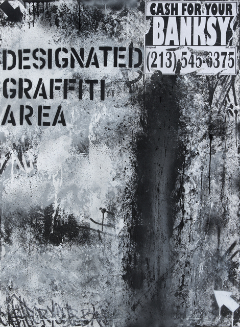 Mad One, 'Designated Graffiti Area, Cash For Your Banksy', 2016, Julien's Auctions