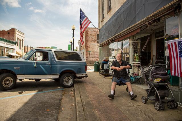 , 'Bronco & American Flags, Hale County, AL,' 2017, Spalding Nix Fine Art