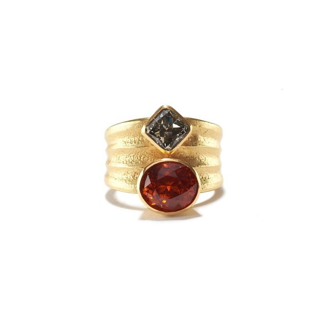 , 'Garnet & Diamond Ripple Ring,' ca. 2018, Patina Gallery