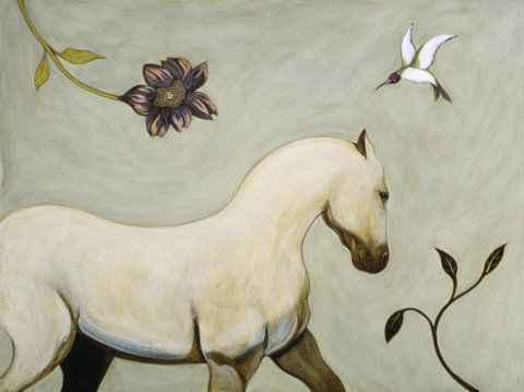 , 'White Horse,' , Sorrel Sky Gallery