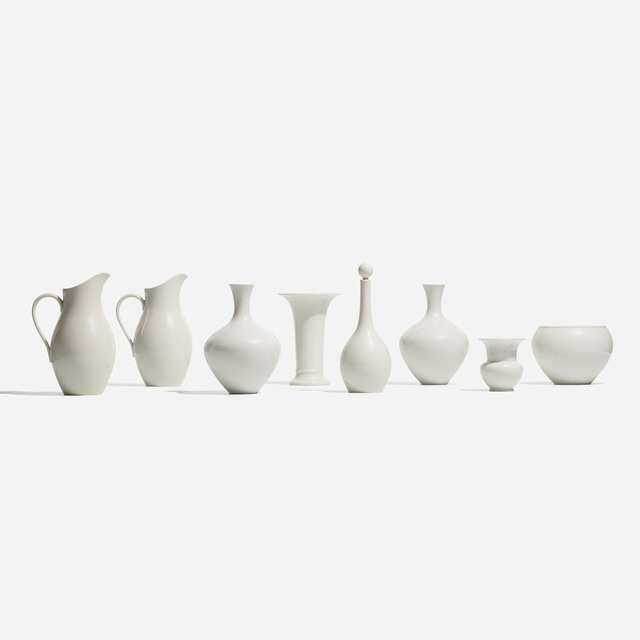 KPM, 'Collection of Eight Vessels', c. 1930, Wright