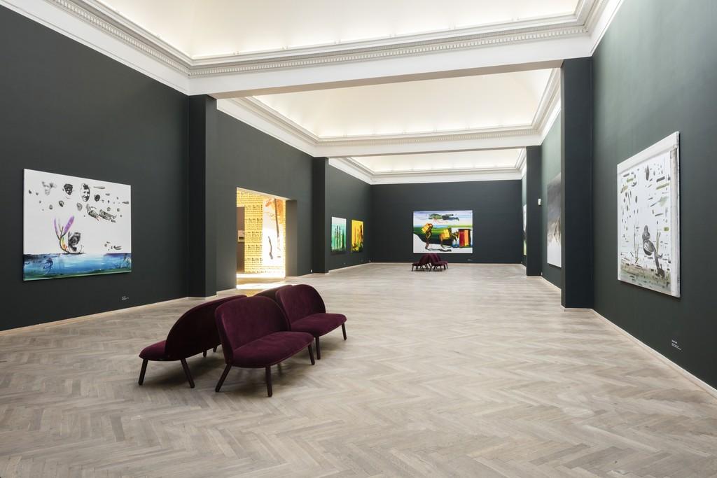 John Kørner, 'Altid mange problemer', 2017. Installation view, Kunsthal Charlottenborg, 2017. Photo by Anders Sune Berg.