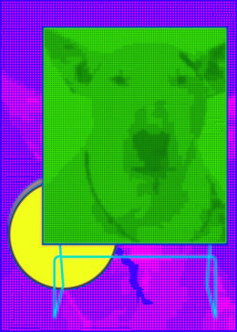 , 'Green dog with Dieter Rams,' 2014, KWANHOON GALLERY